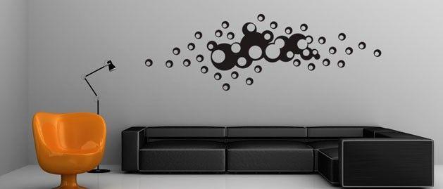 Bublinky v chomáči (1090) / Samolepky na zeď, stěnu a nábytek