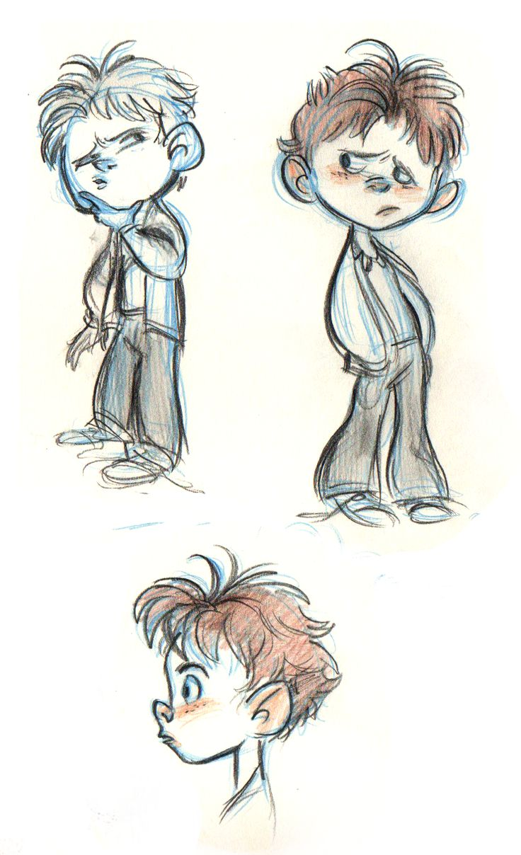 Great little boy sketches by impressive 19 year old twins ...