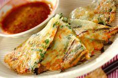 ジャガイモをすりおろすとふっくらもちもちのチヂミに。ジャガイモ入りもちもちチヂミ[中華/焼きもの、オーブン料理]2008.09.01公開のレシピです。