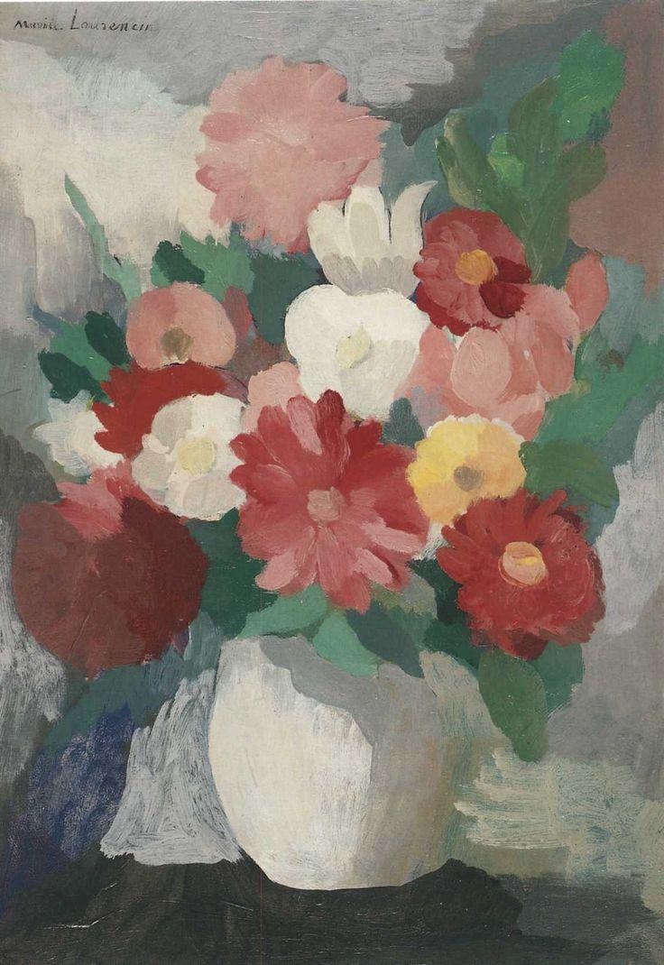 Marie Laurencin (1885-1956) was een Frans schilderes en grafica. Laurencin behoorde tot de avant-garde van de kring rond Pablo Picasso in Parijs aan het begin van de twintigste eeuw. Ze was destijds een van de weinige vrouwelijke kubistische schilders, waarbij ze zich onderscheidde door het gebruik van pasteltinten en rondere vormen.