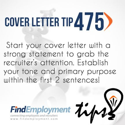 Best 25+ Good cover letter ideas on Pinterest Perfect cover - how to start a resume cover letter