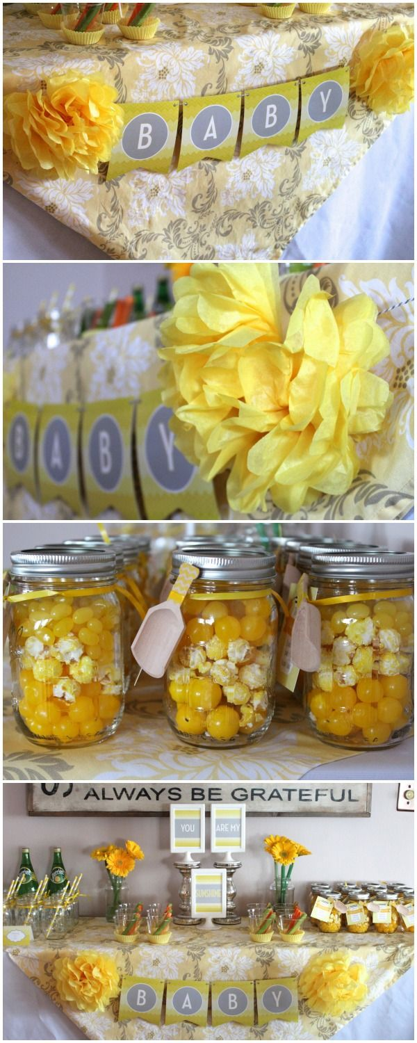 You Are My Sunshine baby shower or sprinkle + Free Printables www.weheartparties.com