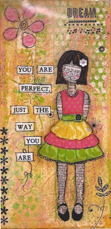 Perfect the Way You Are Art Print by BaxtersMom on Etsy, $20.00