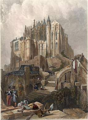 Mont St Michel engraving by William Miller after Clarkson Stanfield