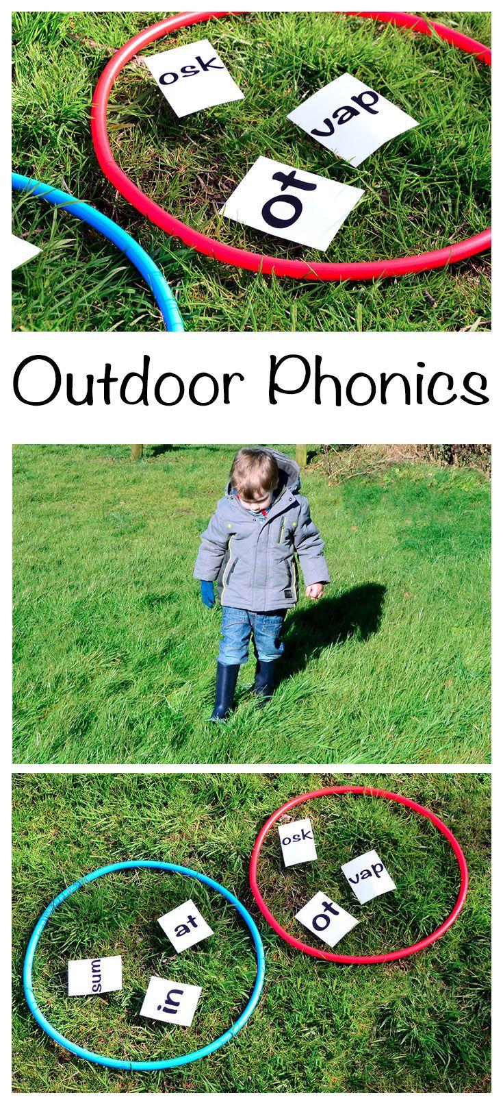 Fun outdoor practice for the year 1 phonics screening #LearningIsFun