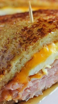 French Toast Grilled Cheese Sandwich... Scramble that egg!