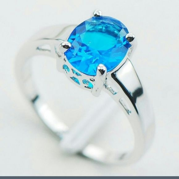 Selling this Sterling Silver Blue Topaz CZ.Stunning color.8&9 in my Poshmark closet! My username is: michelem0919. #shopmycloset #poshmark #fashion #shopping #style #forsale #Jewelry