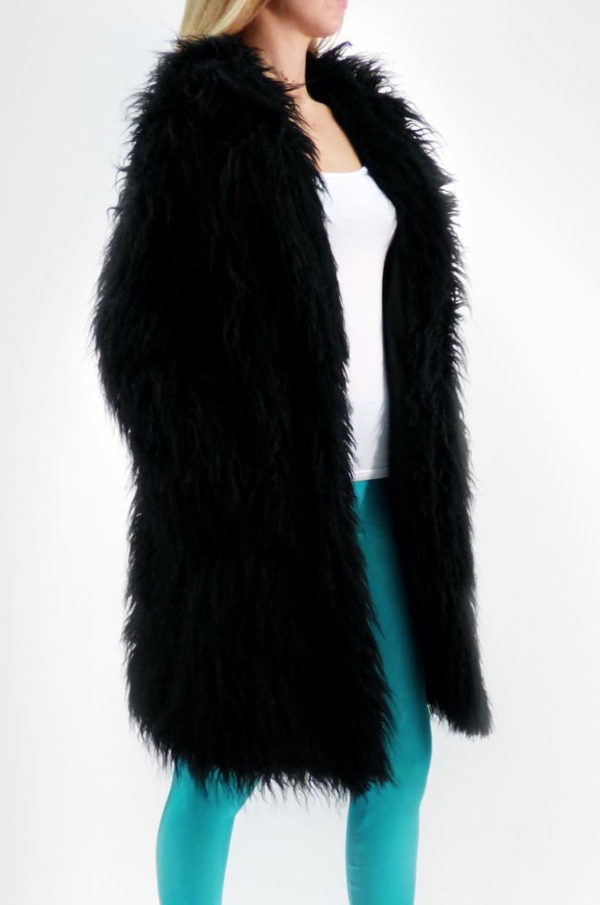 Mustang Black Faux Fur