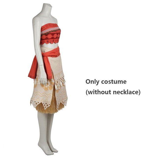 Moana Cosplay Costume Sexy Princess Costume Halloween Suit Movie Moana Costume