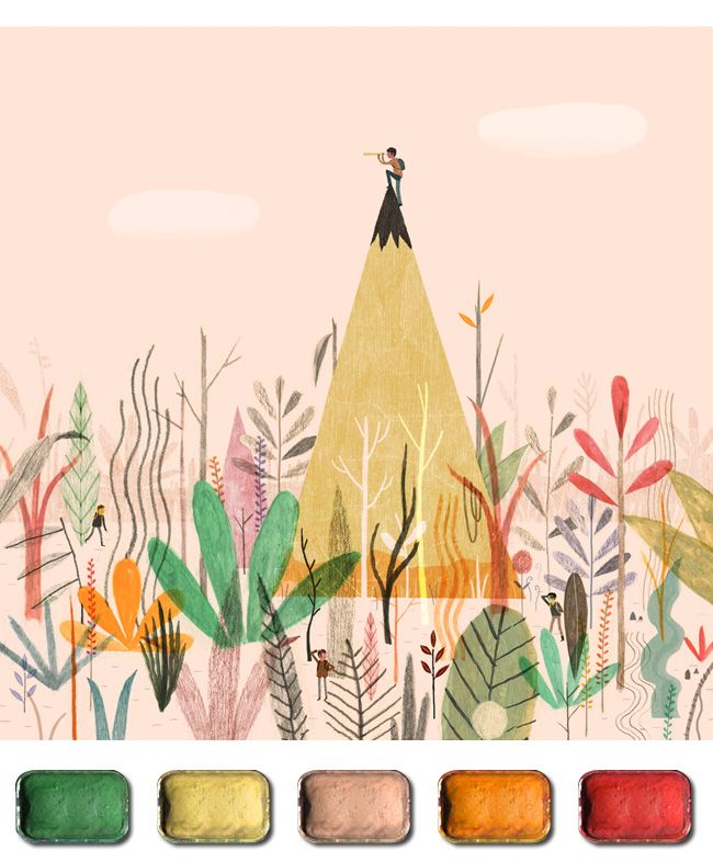 The Artist's Palette :: Dadu Shin << Illustration Friday