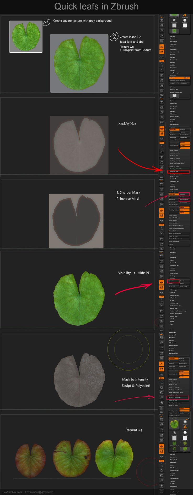 80.lv articles tutorial-generating-leaves-in-zbrush