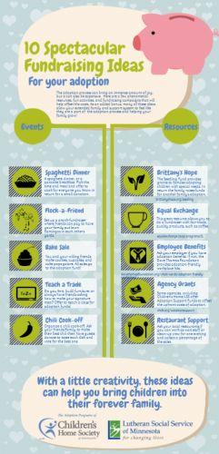 Infographic | 10 Spectacular Adoption Fundraising Ideas | Children's Home Society of Minnesota #adoption #fundraising
