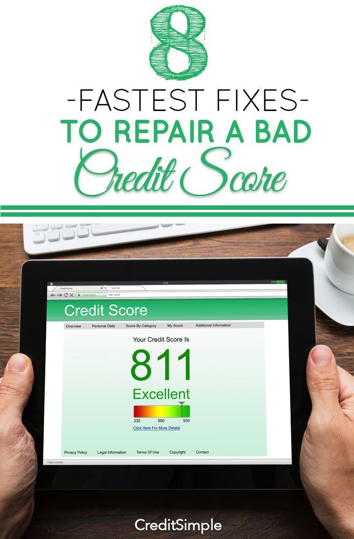 8 Fastest Fixes To Repair A Bad Credit Score