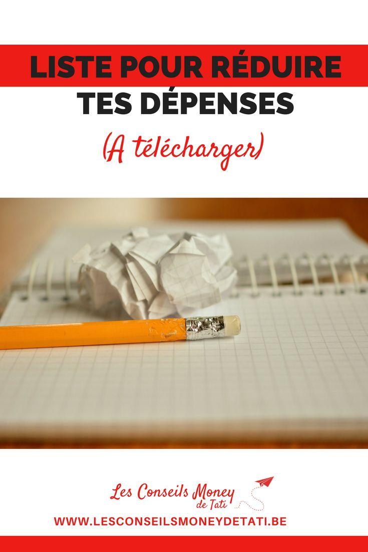 Télécharge la liste pour réduire tes dépenses - www.lesconseilsmoneydetati.be
