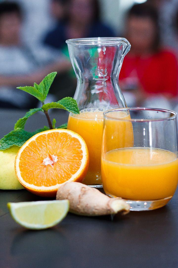 estratto di arancia, zenzero e lime