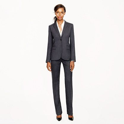 Charcoal Suit. A power suit with a feminine touch!