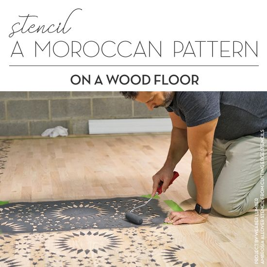 Stencil PatternsAdd Exotic Flair To A Wood Floor Good morning, myCutting Edge Stencilsfriends! Wood floors can add beauty and comfort to a home. Don't let thelack of patterned personalitymake you second guess this flooring option. Ourfloor stencilscan offer a quick and easy solution fo