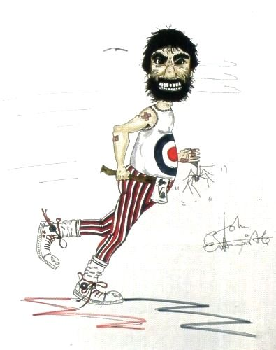 Drawing of Keith Moon by John Entwistle (private collection)