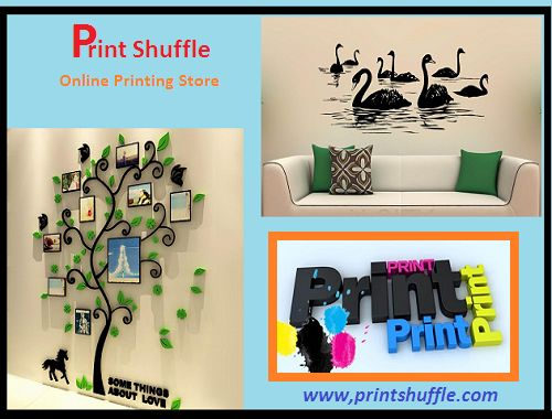 If you are planning to redecorate your living room or any environment, we can make it for you. You don't have any need to modify the entire decor for that; with easy steps with our wall decals product you can give the real glossy look to your room walls.  www.printshuffle.com
