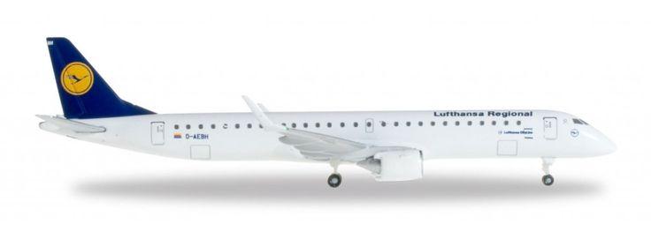 Herpa Lufthansa Regional Cityline ERJ195 1:500 Model Airplane