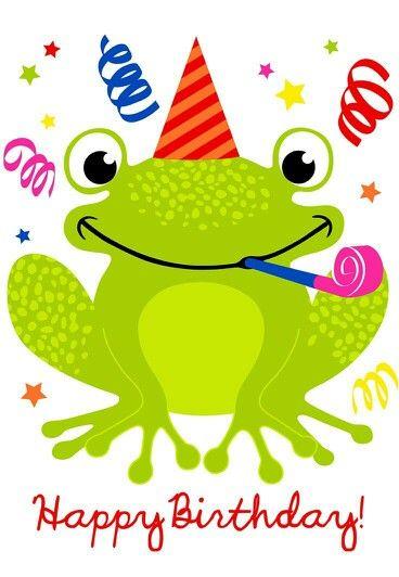 Birthday Frog | Graphics & Clip Art | Pinterest | Frogs ...