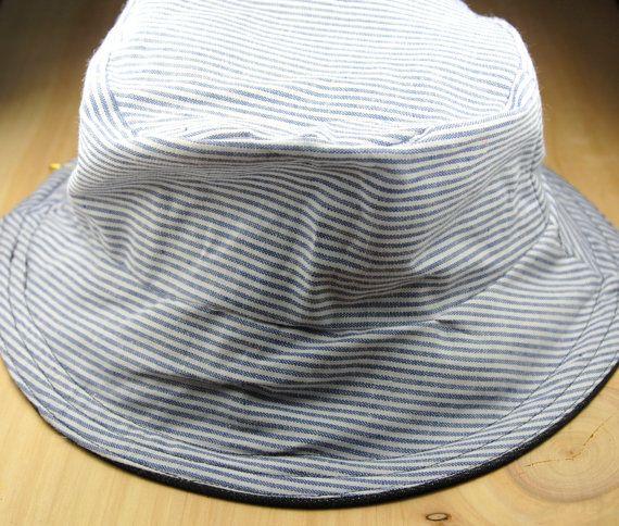 Bucket hat - MEDIUM, BLUE+DENIM, baby bucket hat,toddler hat,adult bucket hat,child bucket hat,summer hat,reversible hat,cotton hat,sunhat #handmade #design