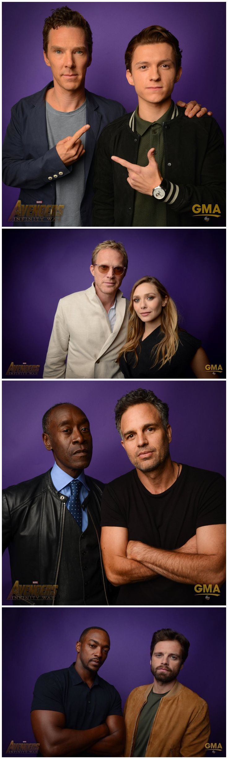 Photoshoot of the Avengers: Infinity War Actors at the D23 ...