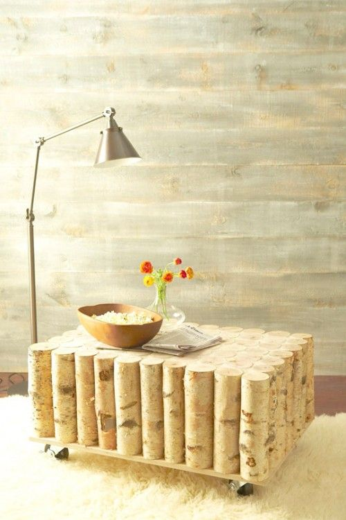 DIY Natural Birch Coffee Table | Shelterness