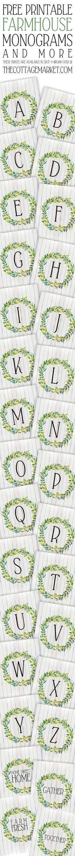 Free Printable Farmhouse Monograms and More