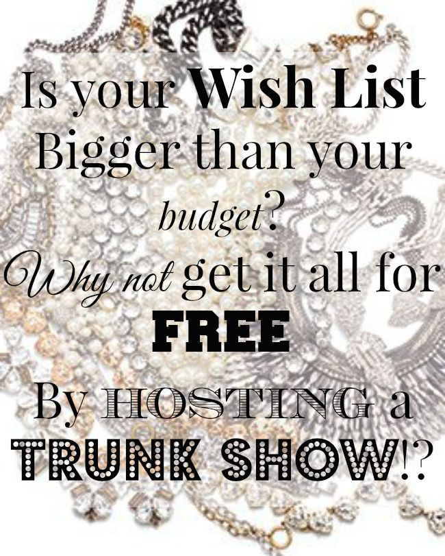 What will you get for free at your Trunk show? Make your wishlist and make sure you snag a date... http://www.stelladot.co.uk/dianehamilton