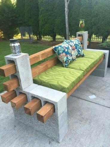 Seating Bench of blocks