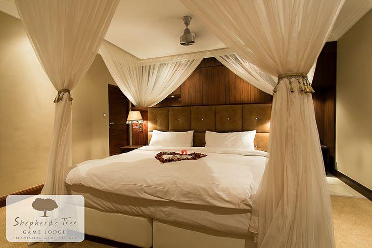 Executive Room (Romantic Turndown) ~ Shepherd's Tree Game Lodge ~ www.shepherdstree.co.za