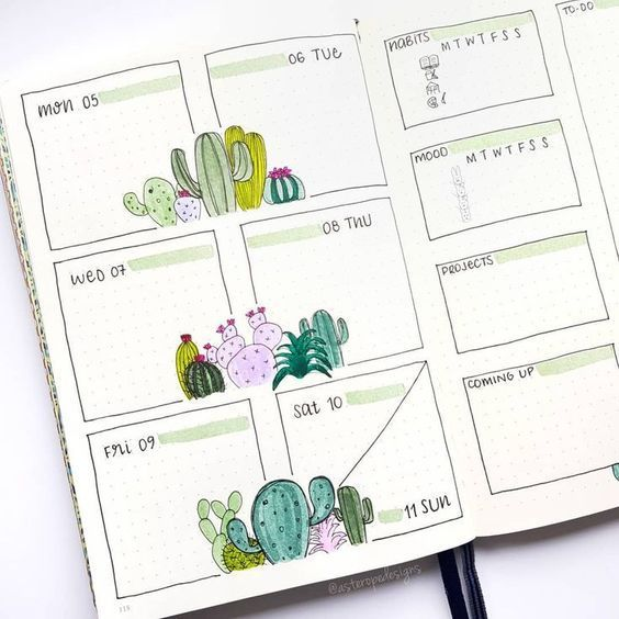 Weekly Bullet Journaling Spreads to Keep Every Wee…