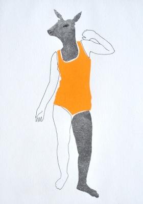 Scène de chasse I, Jeanne Picq, galerie L'oeil ouvert