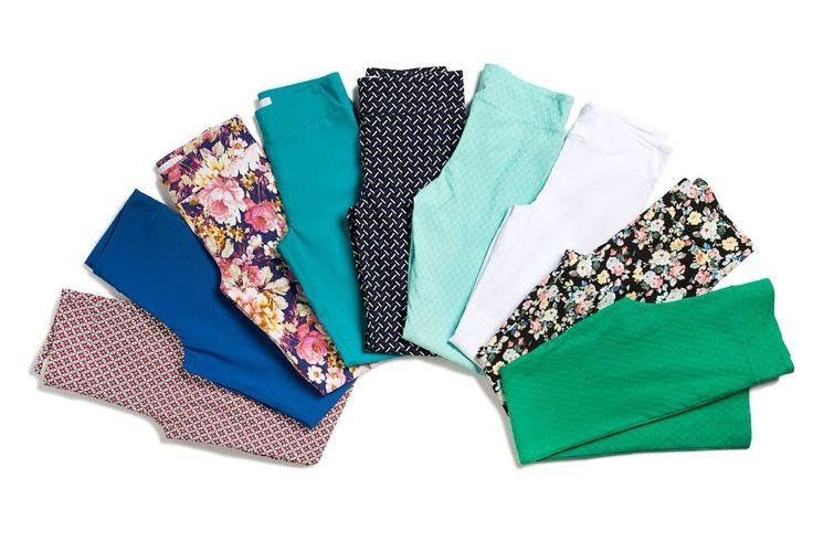 Margaret M Emer pants in lots of colors. Got them in the black pattern and minty textured! LOVE!!!