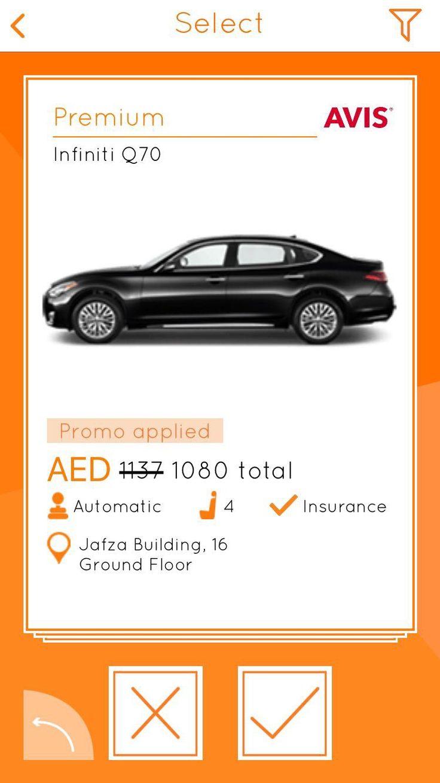 Rent a Infiniti Q70 Car rental deals, Car rental app