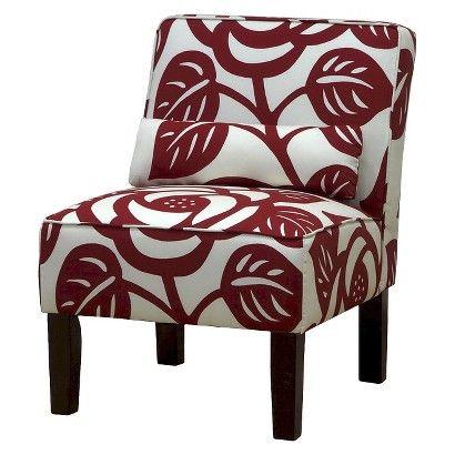 Seedling By Thomas Paul Slipper Chair   Dec Rose Red