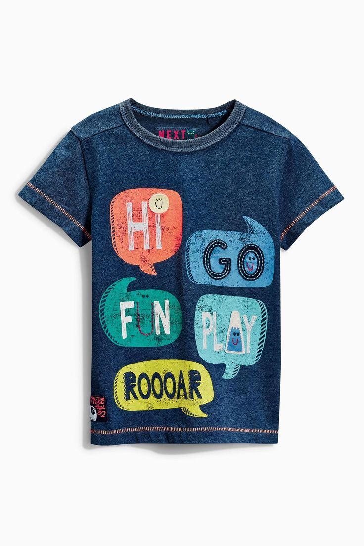 Acheter T-shirt bleu marine imprimé bulles de BD (3 mois - 6 ans) disponible en ligne dès aujourd'hui sur Next : France