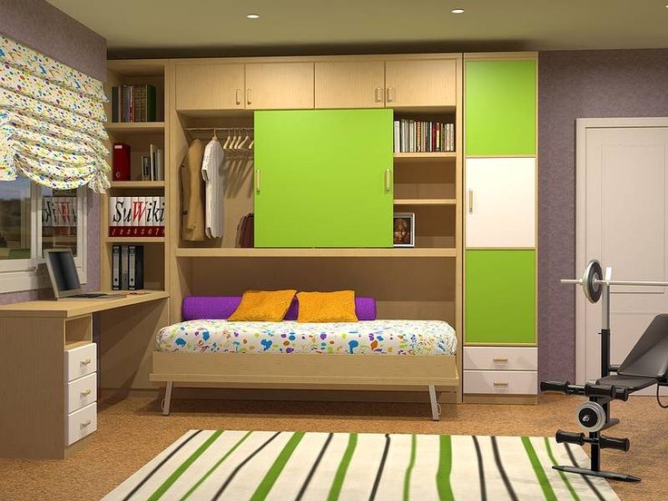 Tienda de mueble juvenil/infantil dormitorios juveniles en Madrid: CAMAS ABATIBLES /PLEGABLES INDIVIDUALES HORIZONTALES DE 90CM