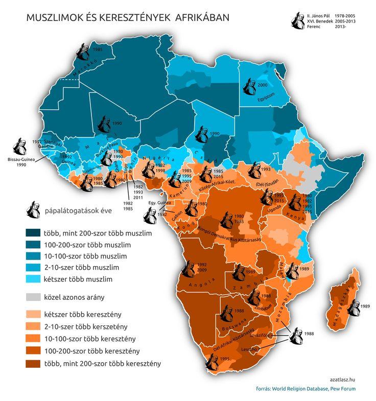 afrika térkép iszlám kereszténység pápalátogatás