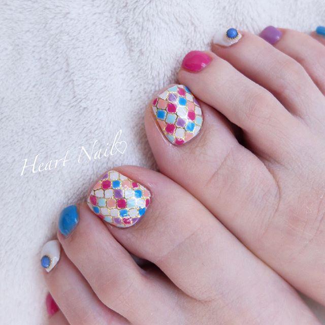 モロッコ風ネイル  #nails#nail#nailart#nailstagram#gelnails#nailart#ネイル#pedicure#ネイルアート#ネイルデザイン#ネイリスト#ネイルサロン#大人可愛い#大人ネイル#ジェルネイル#シンプルネイル#野田市ネイル #モロッコネイル