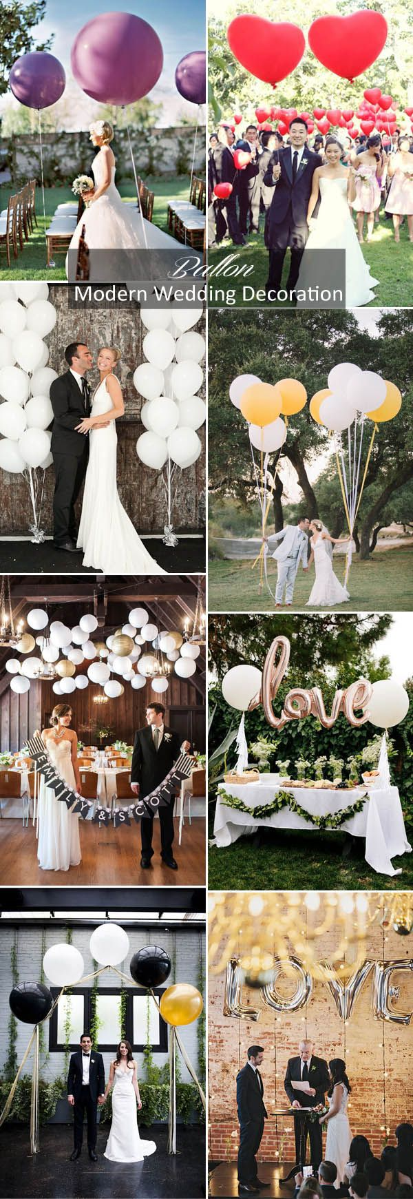 modern wedding decoration ideas with ballons