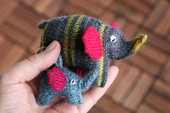 Elephant toy knitting pattern in two sizes easy toy knitting