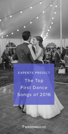 Experts Predict: The Top First Dance Songs of 2016 - Wedding First Dance Song ideas from @weddingwire! {Tara Peddicord Photography}