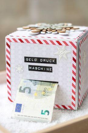 #geschenke DIY Geld-Druck-Maschine – Geld-Geschenk für Weihnachten oder Geburtstag – #DIY #für #Geburtstag #GeldDruckMaschine