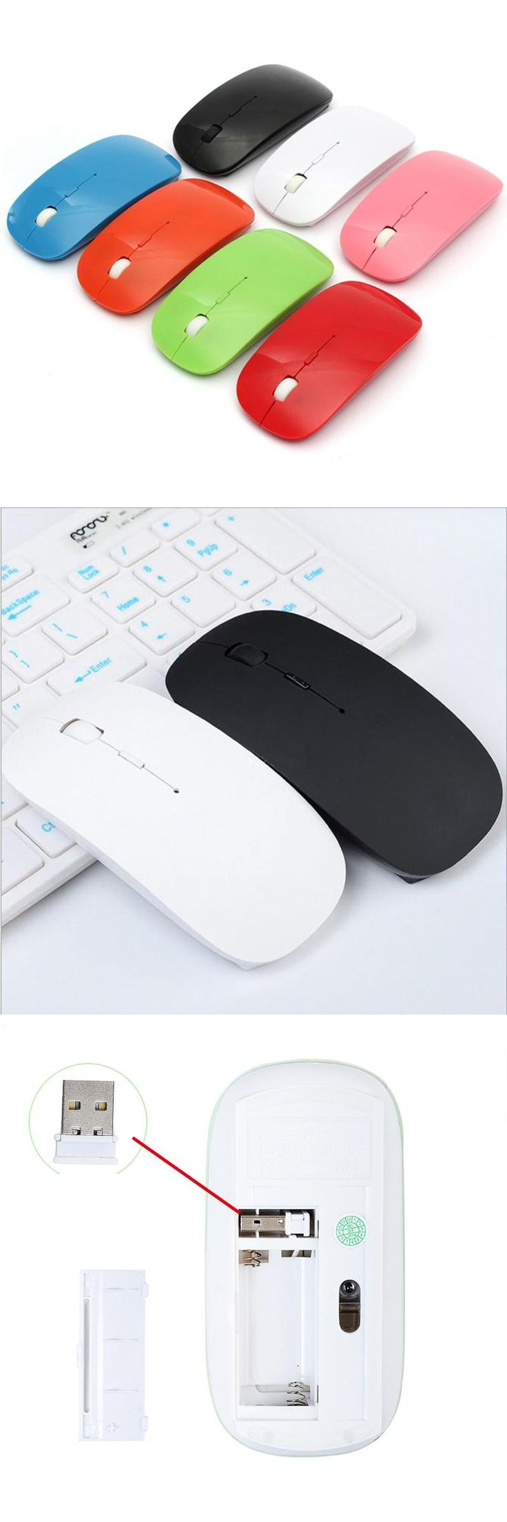 [Visit to Buy] Top Selling USB Optical Wireless Computer 1600 DPI Mouse 2.4G Receiver Super Slim Mouse For PC Laptop Desktop Souris Sans Fil #Advertisement