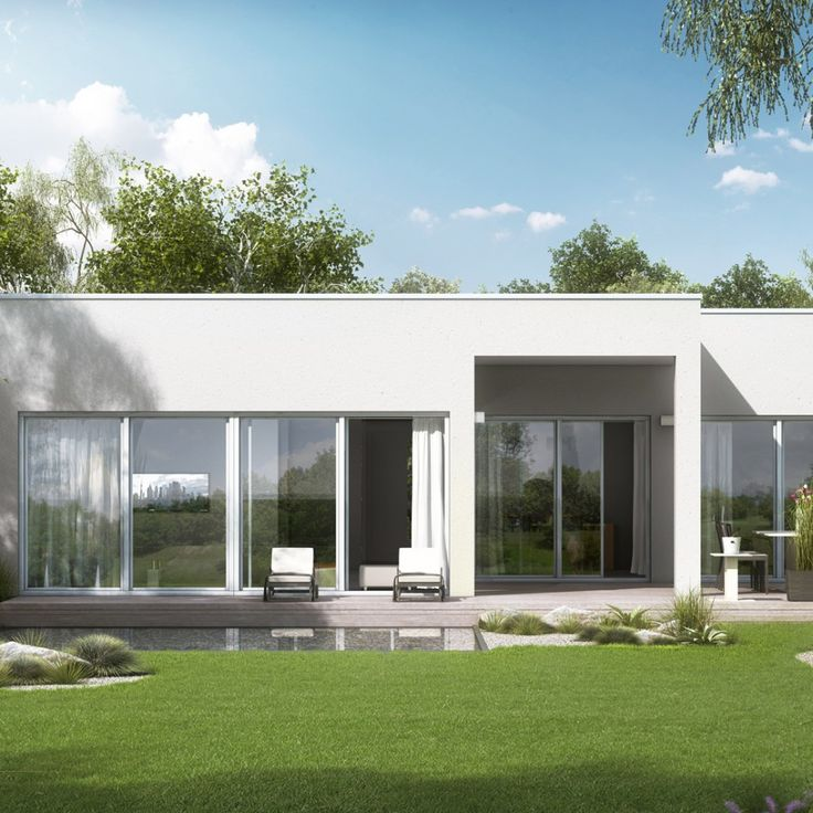 3d visualisierung rendering kern haus bungalow select for Haus bauen pultdach