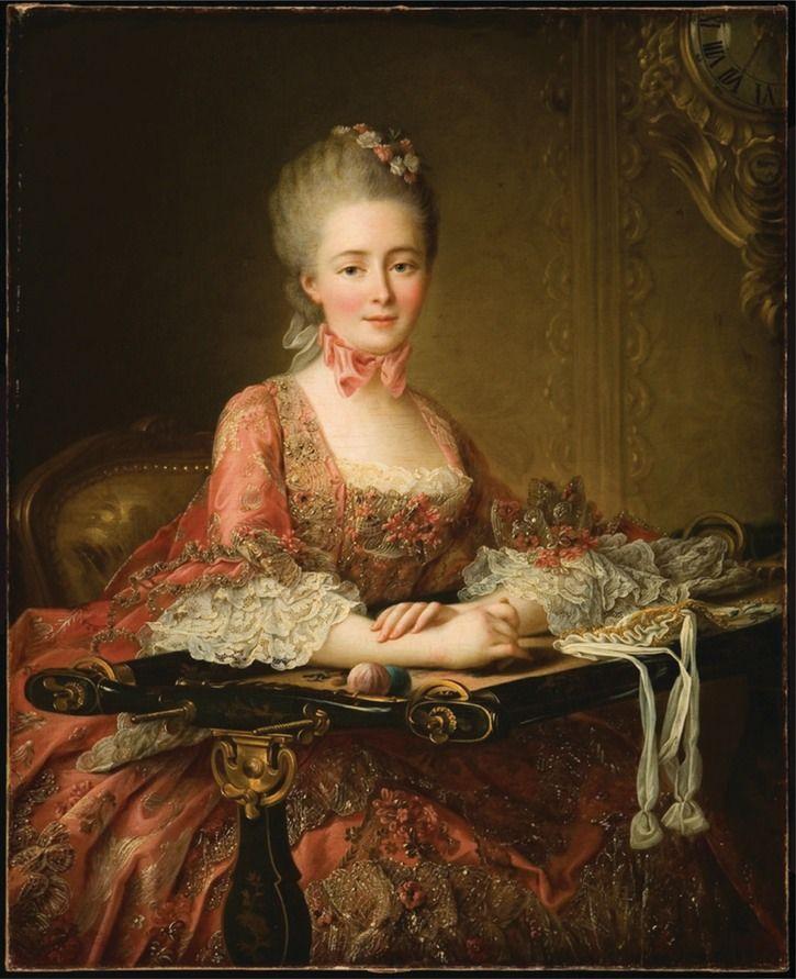1767 Marquise de Caumont la Force by François Hubert Drouais (Ball State University - Muncie, Indiana USA) | Grand Ladies | gogm