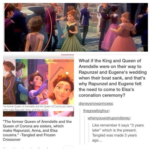 Crossovers King And Queen: Frozen / Tangled Connections