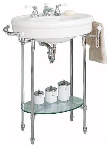 "American Standard ""Standard"" Console sink with Chrome Legs - traditional - bathroom sinks - - by periodbath.com"